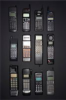 Mobile phones in rows, view from above Stock Photo - Premium Royalty-Freenull, Code: 694-03693778