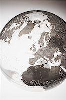Inflatable Globe showing Northern Hemisphere Stock Photo - Premium Royalty-Freenull, Code: 694-03693900