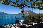 Patio Overlooking Lake Como, Varenna, Lombardy, Italy Stock Photo - Premium Rights-Managed, Artist: R. Ian Lloyd, Code: 700-03696824