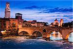 Ponte Pietra over Adige River, Verona, Veneto, Italy Stock Photo - Premium Rights-Managed, Artist: R. Ian Lloyd, Code: 700-03696841