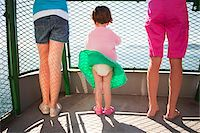female rear end - Little Girl's Skirt Blowing in Wind on Ferry Boat, San Juan Islands, Washington State, USA Stock Photo - Premium Rights-Managednull, Code: 700-03696878