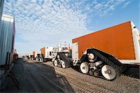 Large Tracked Vehicles, Prudhoe Bay, Alaska, USA Stock Photo - Premium Rights-Managednull, Code: 700-03696989