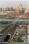 Overview of Olympic Green, Beijing, China Stock Photo - Premium Rights-Managed, Artist: Emanuele Ciccomartino, Code: 700-03698011