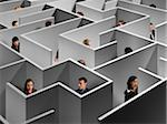 People in Large Maze Stock Photo - Premium Rights-Managed, Artist: Marc Simon, Code: 700-03698129