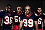 Group of Football Players in Studio Stock Photo - Premium Rights-Managed, Artist: Brian Kuhlmann, Code: 700-03698202