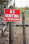 No Hunting or Trespassing Sign, British Columbia, Canada Stock Photo - Premium Royalty-Free, Artist: Grant Harder, Code: 600-03698366