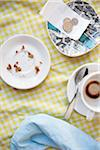 Dishes and Tip on Cafe Table, Vancouver, British Columbia, Canada Stock Photo - Premium Royalty-Free, Artist: Grant Harder, Code: 600-03698373