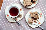 Gluten-free Date Squares and Tea, Vancouver, British Columbia, Canada Stock Photo - Premium Royalty-Free, Artist: Grant Harder, Code: 600-03698387