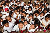 Children at Larawatu School, Sumba, Indonesia Stock Photo - Premium Rights-Managednull, Code: 700-03698323