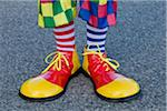 Close-up of Clown's Shoes Stock Photo - Premium Rights-Managed, Artist: Elke Esser, Code: 700-03698423