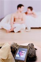 lovers in bedroom blurred, missed call on a mobile Stock Photo - Premium Royalty-Freenull, Code: 621-03698701