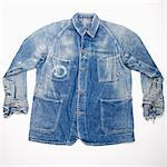 Worn out denim jacket Stock Photo - Premium Royalty-Free, Artist: David Mendelsohn, Code: 653-03706197