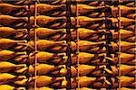 Detail of bottles of champagne in a rack Stock Photo - Premium Royalty-Freenull, Code: 653-03706347