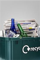 Full Recycling Container Stock Photo - Premium Royalty-Freenull, Code: 693-03707890
