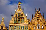 Belgium, Flanders, Antwerp; The decorative merchant houses in the Grote Markt Stock Photo - Premium Rights-Managed, Artist: AWL Images, Code: 862-03710379