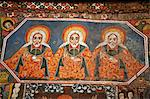 Ethiopia, Gondar, Debre Birhan Selassie Church. Ancient paintings adorn the interior of this famous church. Stock Photo - Premium Rights-Managed, Artist: AWL Images, Code: 862-03711123