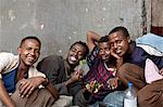 Ethiopia, Harar. A group of young men enjoying the effects of local stimulant Chat. Stock Photo - Premium Rights-Managed, Artist: AWL Images, Code: 862-03711160