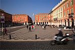 France, Cote D'Azur, Nice; Place Massena, the city's main square where locals and visitors gather. Stock Photo - Premium Rights-Managed, Artist: AWL Images, Code: 862-03711462