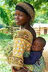 Ghana,Volta Region,Hohoe. Woman and baby near Hohoe,Volta. Stock Photo - Premium Rights-Managed, Artist: AWL Images, Code: 862-03711618