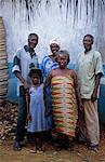 Ghana,Volta Region,Logba Tota. A family with twins in the Volta Highland village of Logba Tota. Stock Photo - Premium Rights-Managed, Artist: AWL Images, Code: 862-03711619