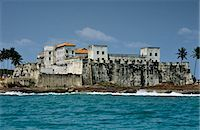 Ghana,Central region,Elmina. Elmina Castle,aka St George's Slave Fort - the oldest European building south of the Sahara. Scene of horrors and degradation. Stock Photo - Premium Rights-Managednull, Code: 862-03711646