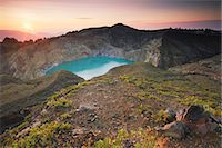 flores - Turquoise lake of Kelimutu volcano, Flores, Indonesia Stock Photo - Premium Rights-Managednull, Code: 862-03711838