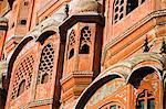 Hawa Mahal; or Palace of the Wind in the middle of Johari Bazaar and part of the zenana palace (women's quarters) designed by Lalchand Usta in 1799. Jaipur; Rajasthan; India. Stock Photo - Premium Rights-Managed, Artist: AWL Images, Code: 862-03711969