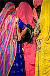 Woman in colourful sari in Delhi,India Stock Photo - Premium Rights-Managed, Artist: AWL Images, Code: 862-03711980