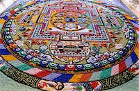 Detail of a Mandala. 'Mandala'  from the Indian language of Sanskrit meaning 'circle'. Diskit, Nubra Valley, Ladakh, India Stock Photo - Premium Rights-Managednull, Code: 862-03712079