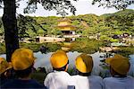 Kinkakuji,Golden Pavillion Temple school children with yellow hats Stock Photo - Premium Rights-Managed, Artist: AWL Images, Code: 862-03712449