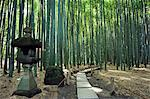 Kamakura bamboo forest and stone lantern in Hokokuji temple garden Stock Photo - Premium Rights-Managed, Artist: AWL Images, Code: 862-03712480