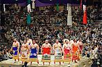 Grand Taikai Sumo Wrestling Tournament Dohyo ring entering ceremony of top ranked wrestlers Stock Photo - Premium Rights-Managed, Artist: AWL Images, Code: 862-03712505