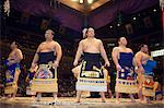 Grand Taikai Sumo Wrestling Tournament Dohyo ring entering ceremony of top ranked wrestlers Stock Photo - Premium Rights-Managed, Artist: AWL Images, Code: 862-03712507