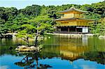 Japan,Honshu Island,Kyoto Prefecture; Kyoto City. Kinkaku-ji (Golden Pavilion Temple) originally built in 1397 by Shogun Ashikaga Yoshimitsu. Stock Photo - Premium Rights-Managed, Artist: AWL Images, Code: 862-03712555