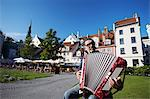 Accordian player in Livu Laukums, Riga, Latvia Stock Photo - Premium Rights-Managed, Artist: AWL Images, Code: 862-03712680