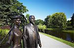 Statues in park next to city canal, Riga, Latvia Stock Photo - Premium Rights-Managed, Artist: AWL Images, Code: 862-03712683