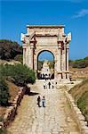 Libya, Leptis Magna. The arch of Septimus Severus astride the Cardo Maximus. Stock Photo - Premium Rights-Managed, Artist: AWL Images, Code: 862-03712751