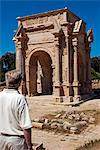 Libya, Leptis Magna. The arch of Septimus Severus astride the Cardo Maximus. Stock Photo - Premium Rights-Managed, Artist: AWL Images, Code: 862-03712752