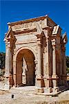 Libya, Leptis Magna. The arch of Septimus Severus astride the Cardo Maximus. Stock Photo - Premium Rights-Managed, Artist: AWL Images, Code: 862-03712753