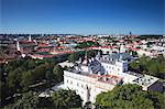 Lithuania, Vilnius, View Of Old Town With Royal Palace In Foreground Stock Photo - Premium Rights-Managed, Artist: AWL Images, Code: 862-03712809