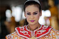 southeast asian - Bangkok, Thailand. A Thai dancer in traditional thai dress Stock Photo - Premium Rights-Managednull, Code: 862-03713801