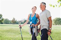 Smiling couple hiking together Stock Photo - Premium Royalty-Freenull, Code: 635-03716092
