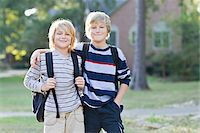 Brothers Going to School Stock Photo - Premium Rights-Managednull, Code: 700-03719316