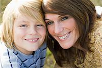 Close-Up of Mother and Son Stock Photo - Premium Rights-Managednull, Code: 700-03719335