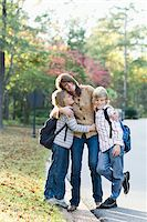 Mother Taking Sons to School Stock Photo - Premium Rights-Managednull, Code: 700-03719342
