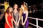 Girls night out in London by Tower Bridge Stock Photo - Premium Rights-Managed, Artist: urbanlip.com, Code: 847-03719757