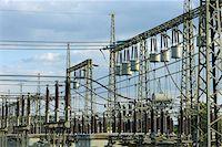 Fence, Electrical Substation, Franconia, Bavaria, Germany Stock Photo - Premium Rights-Managednull, Code: 700-03720181