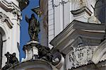 Church of St Nicholas, Old Town, Prague. Detail of statues and pediments Stock Photo - Premium Rights-Managed, Artist: Arcaid, Code: 845-03720267