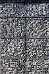 Workshop, Arts Institute Bournemouth, 2005. Exterior detail of gabion. Architects: Lee Fitzgerald Architects Stock Photo - Premium Rights-Managed, Artist: Arcaid, Code: 845-03720273