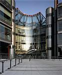 Channel 4 Television Centre, entrance facade. Architects: Richard Rogers Partnership Stock Photo - Premium Rights-Managed, Artist: Arcaid, Code: 845-03720402